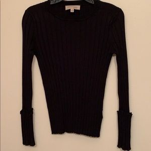 Anthropologie Philosophy stretchy ribbed sweater.